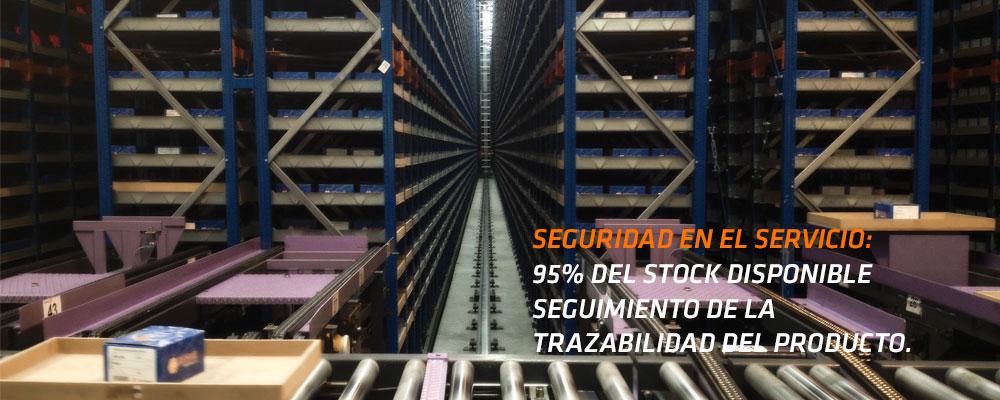 Gran stock con servicio de trazabilidad